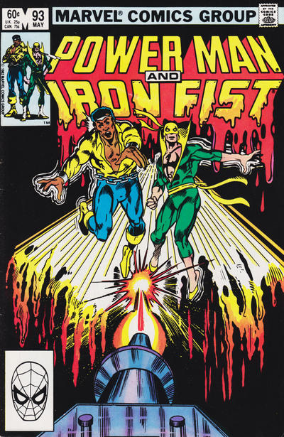 Cover for Power Man and Iron Fist (Marvel, 1981 series) #93 [newsstand]
