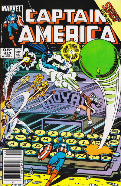 Cover for Captain America (Marvel, 1968 series) #314 [Canadian Newsstand Edition]