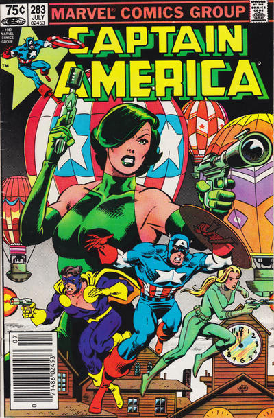 Cover for Captain America (Marvel, 1968 series) #283 [Direct Edition]