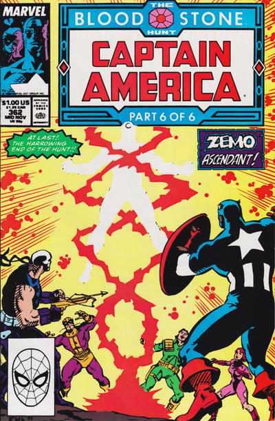 Cover for Captain America (Marvel, 1968 series) #362 [Direct Edition]
