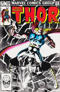 Cover Thumbnail for Thor (Marvel, 1966 series) #334 [Direct Edition]