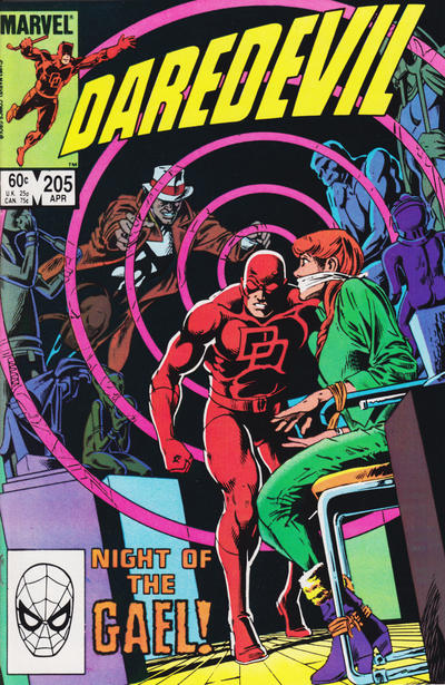 Cover for Daredevil (Marvel, 1964 series) #205 [Direct Edition]
