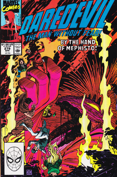 Cover for Daredevil (1964 series) #279 [Direct Edition]