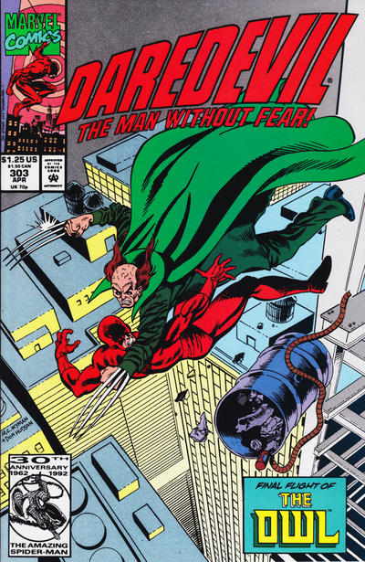 Cover for Daredevil (1964 series) #303 [Newsstand Edition]