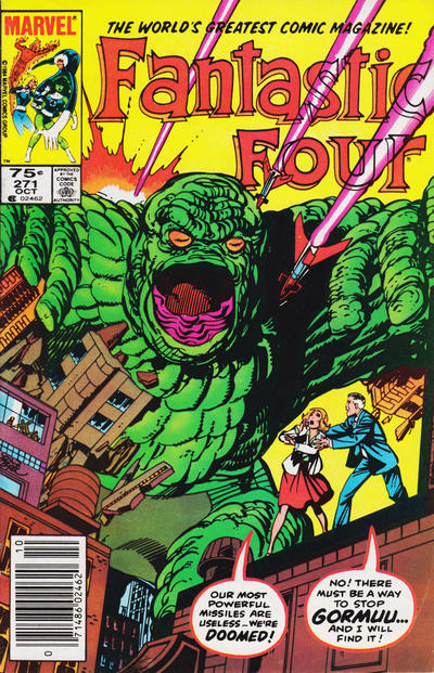 Cover for Fantastic Four (Marvel, 1961 series) #271 [Direct Edition]