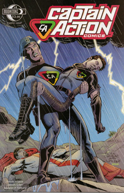 Cover for Captain Action Comics (Moonstone, 2008 series) #4