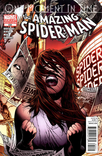 Cover for The Amazing Spider-Man (1999 series) #639 [Variant Edition]