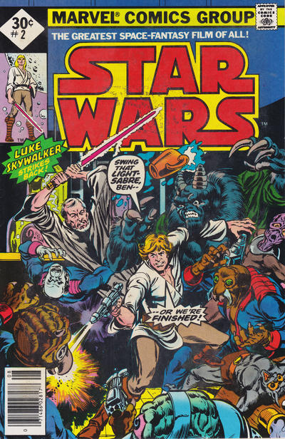 Cover for Star Wars (Marvel, 1977 series) #2 [Newsstand Edition 35 Cent Cover Price]
