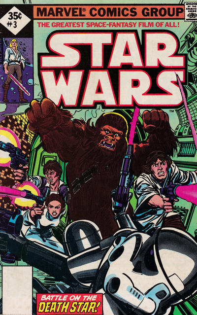 Cover for Star Wars (1977 series) #3 [35 cent cover price variant]