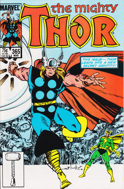 Cover for Thor (Marvel, 1966 series) #365 [Direct Edition]