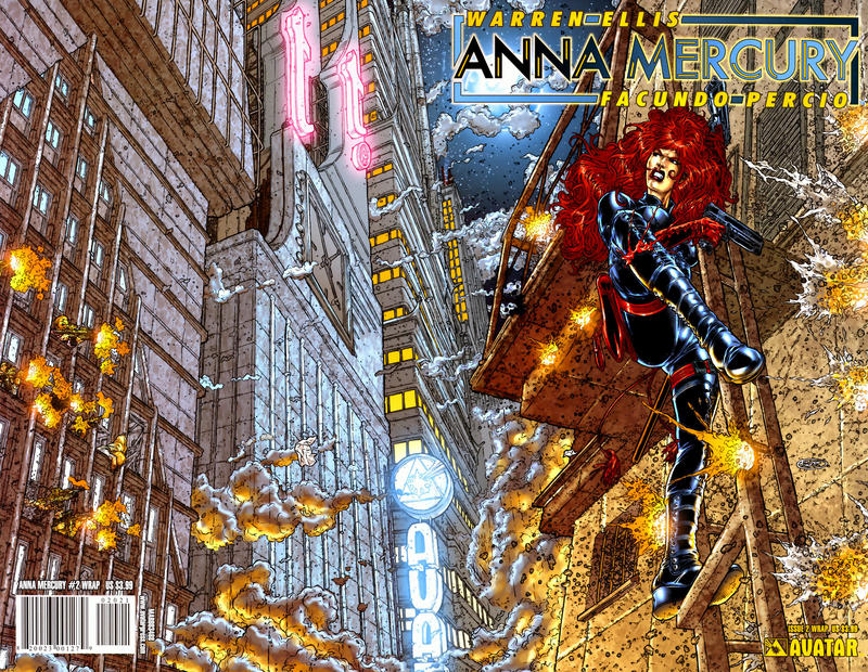 Cover for Anna Mercury (Avatar Press, 2008 series) #2 [Auxiliary Cover Paul Duffield]