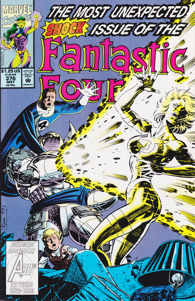 Cover for Fantastic Four (Marvel, 1961 series) #376 [Direct Edition]