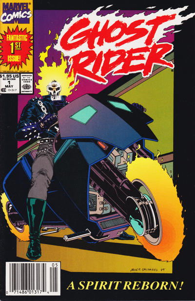Cover for Ghost Rider (Marvel, 1990 series) #1 [Direct Edition]