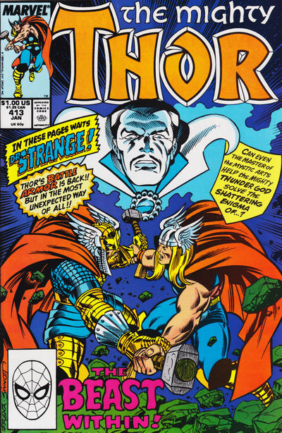 Cover for Thor (Marvel, 1966 series) #413 [Direct Edition]
