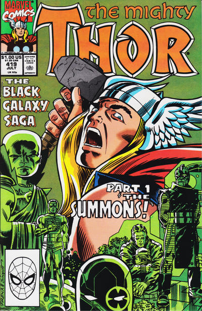 Cover for Thor (Marvel, 1966 series) #419 [Direct]