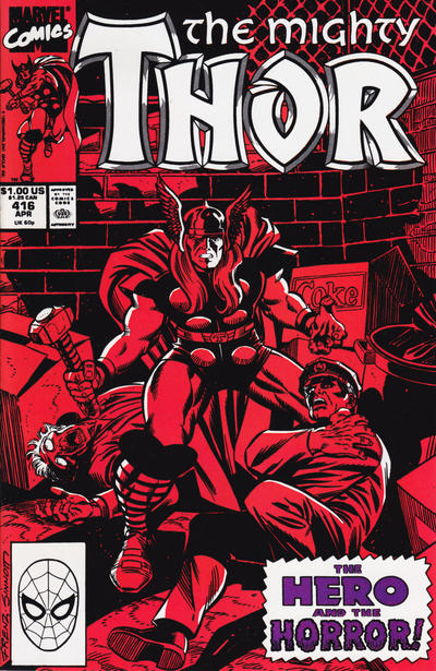 Cover for Thor (Marvel, 1966 series) #416 [Newsstand Edition]