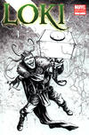 Cover for Loki (Marvel, 2010 series) #1 [Black-and-White Variant Edition]