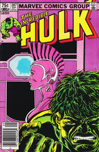 Cover for The Incredible Hulk (Marvel, 1968 series) #287
