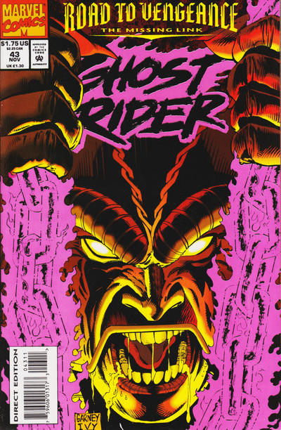 Cover for Ghost Rider (Marvel, 1990 series) #43 [Direct Edition]