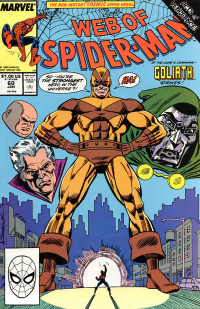 Cover for Web of Spider-Man (Marvel, 1985 series) #60 [Direct Edition]