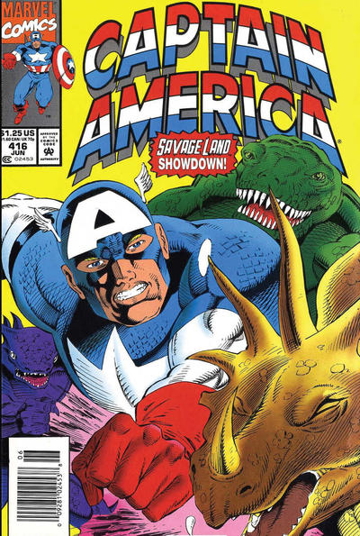 Cover for Captain America (Marvel, 1968 series) #416 [Direct Edition]