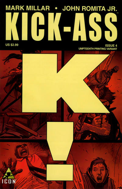 Cover for Kick-Ass (Marvel, 2008 series) #4