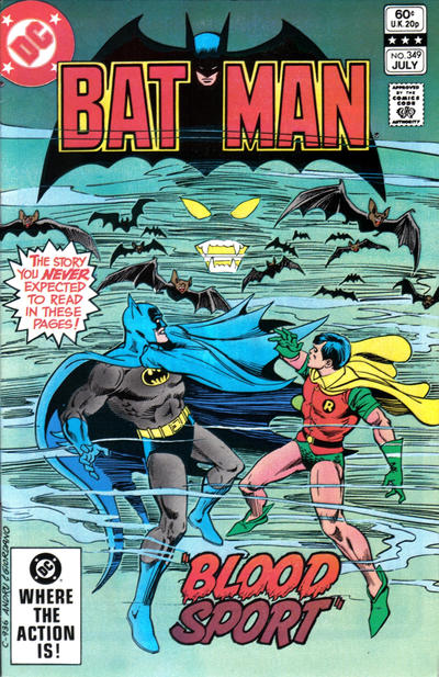 Cover for Batman (DC, 1940 series) #349 [Newsstand]
