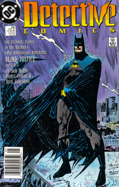Cover for Detective Comics (1937 series) #600 [Newsstand]