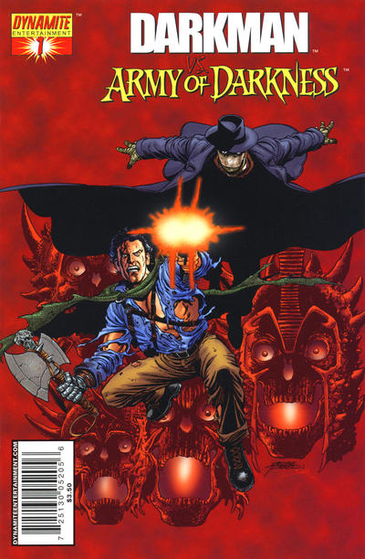 Cover for Darkman vs. The Army of Darkness (2006 series) #1 [George Pérez Cover]