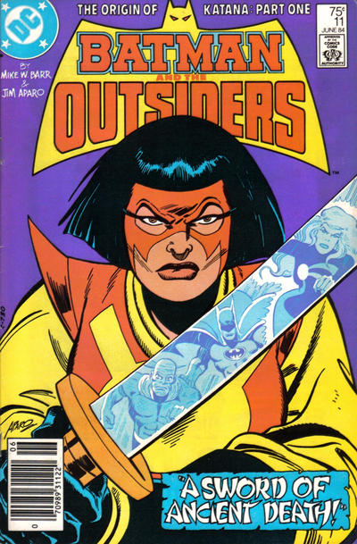 Cover for Batman and the Outsiders (DC, 1983 series) #11 [Newsstand]