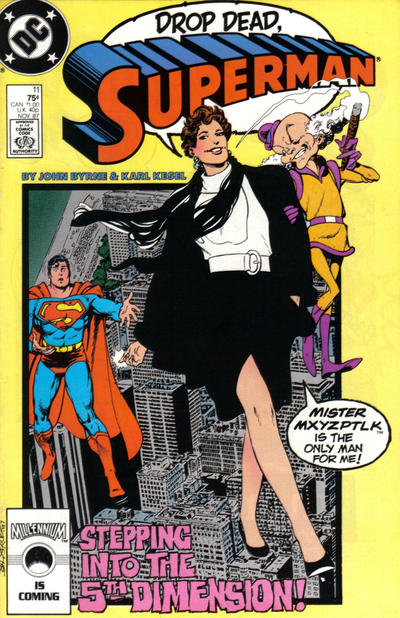 Cover for Superman (DC, 1987 series) #11 [canadian price]