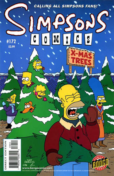 Cover for Simpsons Comics (1993 series) #172