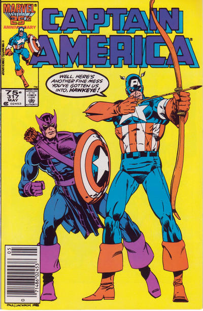 Cover for Captain America (Marvel, 1968 series) #317 [Newsstand Edition]