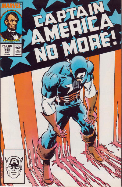 Cover for Captain America (Marvel, 1968 series) #332 [Direct Edition]