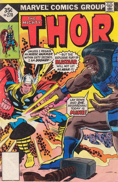 Cover for Thor (Marvel, 1966 series) #270