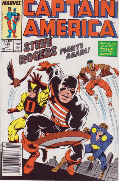 Cover for Captain America (Marvel, 1968 series) #337 [Newsstand Edition]