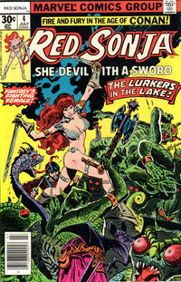 Cover Thumbnail for Red Sonja (Marvel, 1977 series) #4 [30 cent cover]