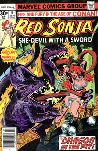 Cover for Red Sonja (Marvel, 1977 series) #5 [30 cent cover]
