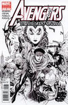 Cover for Avengers: The Children's Crusade (Marvel, 2010 series) #1 [Black-and-White Variant]