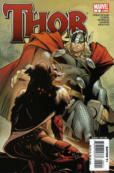 Cover for Thor (Marvel, 2007 series) #5 [Cover B]