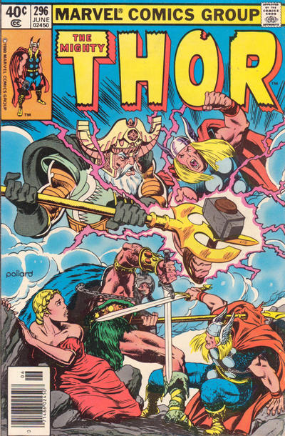 Cover for Thor (Marvel, 1966 series) #296 [Newsstand]