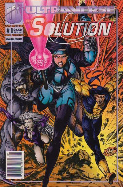 Cover for The Solution (Malibu, 1993 series) #1 [Newsstand Edition]