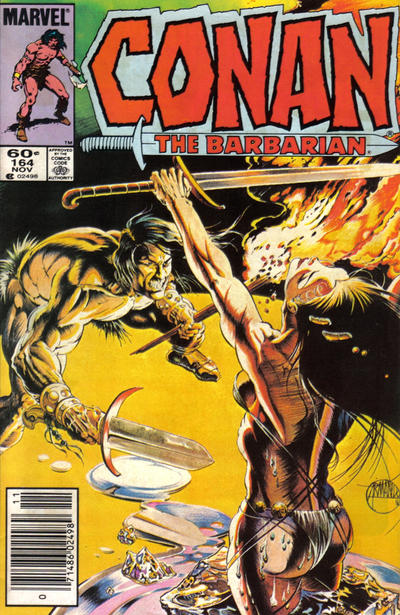 Cover for Conan the Barbarian (Marvel, 1970 series) #164 [Newsstand Edition]