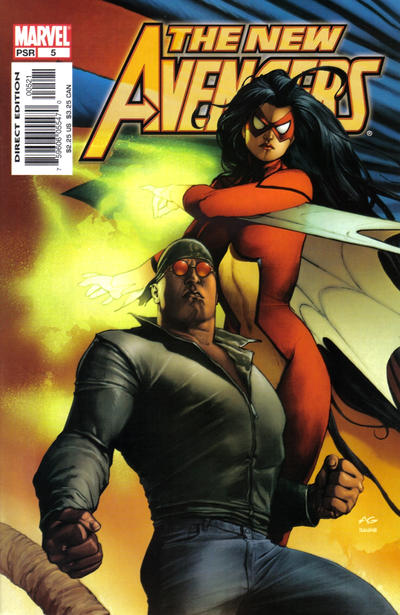 Cover for New Avengers (Marvel, 2005 series) #5 [Adi Granov Cover]