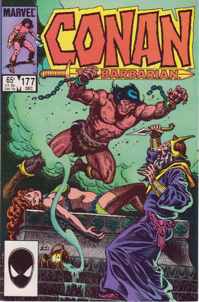Cover for Conan the Barbarian (1970 series) #177 [Newsstand Edition]