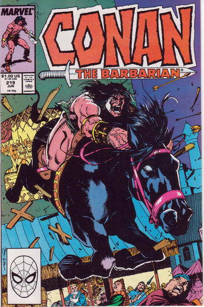 Cover for Conan the Barbarian (Marvel, 1970 series) #219 [Newsstand Edition]