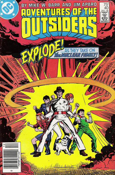 Cover for Adventures of the Outsiders (1986 series) #40 [Direct]