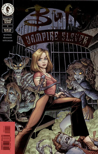Cover for Buffy the Vampire Slayer (Dark Horse, 1998 series) #1 [Photo Cover - Gold Foil]