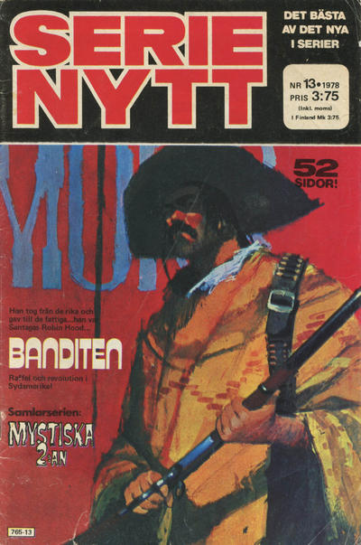 Cover for Serie-nytt [delas?] (Semic, 1970 series) #13/1978