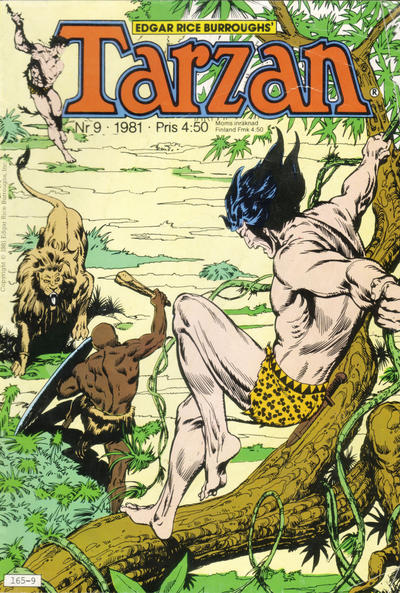 Cover for Tarzan (1977 series) #9/1981